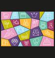 happy birthday party line icon vector image