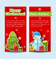 happy holidays banner set vector image vector image