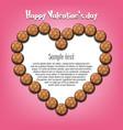 happy valentines day heart from handball balls vector image