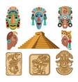 historical symbols mayan culture religion vector image vector image
