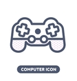 icon game pad joystick vector image vector image