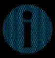 info mosaic icon of halftone circles vector image vector image