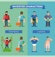 investor characters set vector image