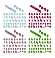 Isometric alphabet font isolated vector image vector image