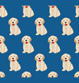 labrador golden retriever dog seamless on indigo vector image