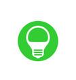led light bulb icon vector image