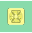 Lemon flat icon isolated on stylish color vector image vector image
