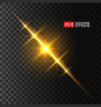 light flash or sun and star shine effect vector image vector image