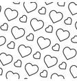 line beauty heart love symbol background vector image vector image