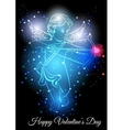 Little cupid with bow and arrow vector image