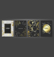 luxury cards collection with marble golden texture vector image vector image