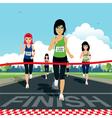 marathon vector image vector image