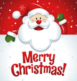Merry Christmas Santa Claus with big white sign vector image vector image