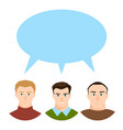 modern society concept with group people vector image vector image
