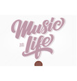 music is life volumetric hand drawn vector image vector image