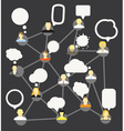 Network template vector image
