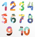 Numbers like man symbols vector image vector image