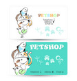 pets business card vector image vector image