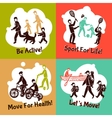 Physical Activity Set vector image vector image