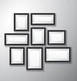 Picture Frames Black Variety vector image vector image