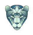 Polygonal head of tiger in vector image vector image
