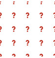 question icon pattern seamless white background vector image vector image