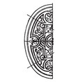 renaissance elliptic panel is a dark pattern vector image vector image