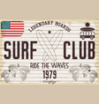 retro grunge surfing poster vector image vector image
