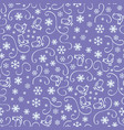 seamless pattern with snowflakes on purple vector image vector image