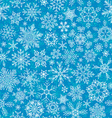 Seamless winter snowflakes pattern vector image vector image