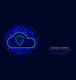 secure cloud technology concept protected digital vector image vector image