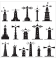 Set Icons of Lighthouses vector image vector image