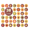 Set of Fruits and Berries icons vector image vector image