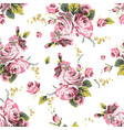 shabchic vintage roses seamless pattern vector image vector image