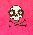 Skull and Bones with Floral Element Cartoon vector image vector image
