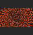 smooth orange rays swirling in a spiral radiating vector image