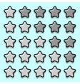 Stone game rating stars icons vector image vector image