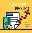 Successful Project Banner vector image vector image