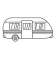 summer camp trailer icon outline style vector image