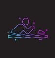 swimming pool icon design vector image vector image