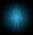 technology digital future human body binary vector image