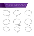 thin line art icons - speech bubble set vector image