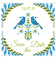 Vintage Invitation Bird Postcard vector image vector image
