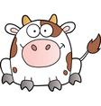 White Cow Cartoon Mascot Character vector image vector image