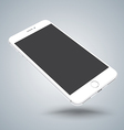 White smartphone mockups like iphon vector image vector image