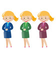women in business clothes vector image