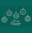 year ornament bauble cartoon card vector image
