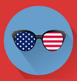 patriotic glasses with stars and strips vector image