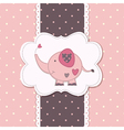 Cute baby background with elephant 2 vector image