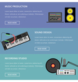 Music production template vector image